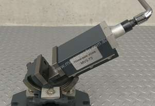 Milling Machine Vice 75mm Three Axis Swivel Base METEX 3 Way Tilting Metal Work