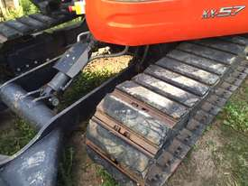 Kubota KX57 2016 excavator with 800 hours,air cabin, steel  tracks rubber pads, buckets and grab - picture5' - Click to enlarge