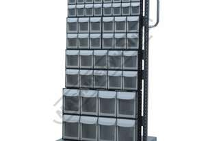 MSS-46MF Mobile Storage Bin Systems 690 x 560 x 1460mm 46 x Assorted Bin Sizes