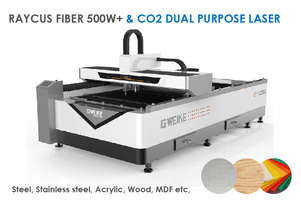 LF1325LC Combination 500W+ fiber and CO2, Metal/non-metal - Delivery/installation included!