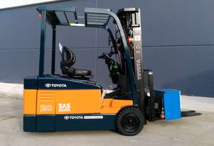Toyota Business Class 2.0 Tonne 3 Wheel Counterbalance Battery Electric Container Forklift - Sydney.