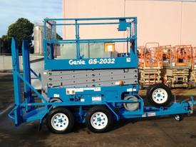 Genie GS2032 Electric Scissor Lift and Trailer - picture0' - Click to enlarge