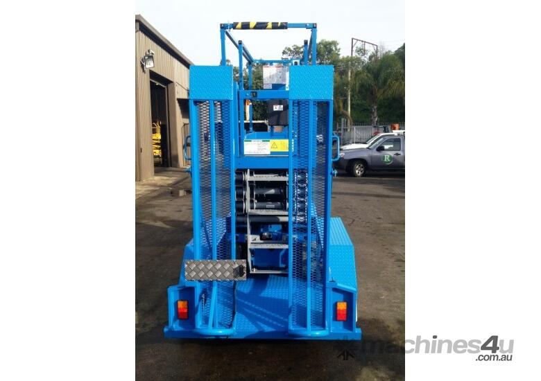 Genie GS2032 Electric Scissor Lift and Trailer