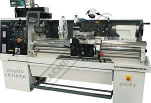 DASHIN CHAMPION 2500VS Centre Lathe 390 x 1250mm Turning Capacity - 55mm Spindle Bore Includes Digit