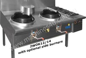 F.E.D. 2WOK12/14 Double Waterless Gas Wok