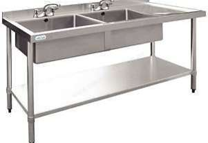 Stainless Steel Double Bowl Sink RH Drainer DN754