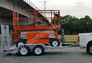 Snorkel Rough Terrain Scissor lift with Trailer