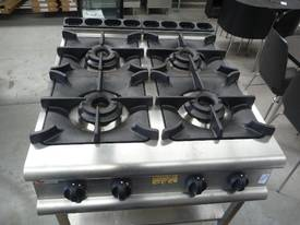 BARON COMMERCIAL 4 BURNER NATURAL GAS COOK TOP