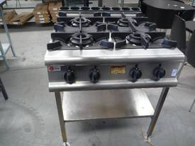 BARON COMMERCIAL 4 BURNER NATURAL GAS COOK TOP - picture0' - Click to enlarge