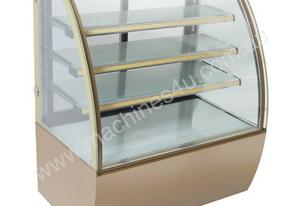 F.E.D. CS-1000Y3 Bonvue Chilled Curved Glass Food Display - 1000mm