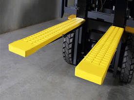 new or unknown rubber forklift tyne grip covers 100 x 1220mm