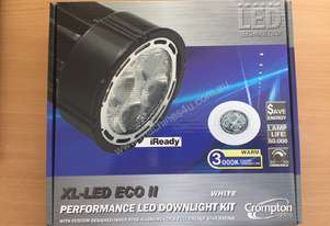 2x CROMPTON 26989 XL-LED ECO II 8W LED Downlight K