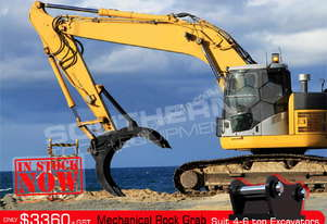 Mechanical Rock Grab suit 4-6Ton Excavator ATTGRAB