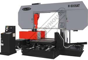 H-800SAT Semi Automatic Double Column Heavy Duty Metal Cutting Band Saw  800 x 800mm (W x H) Square