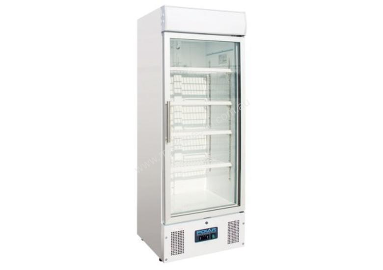 Polar Refrigerator Upright Display Cabinet 218Ltr White Body with Glass Door