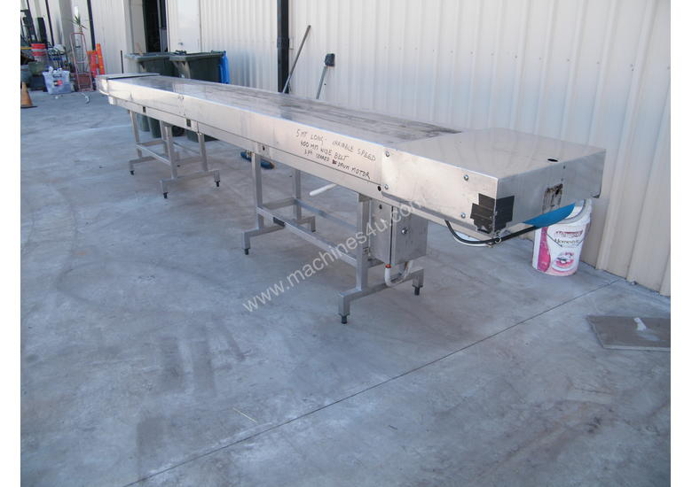 ss conveyor  5 mt long