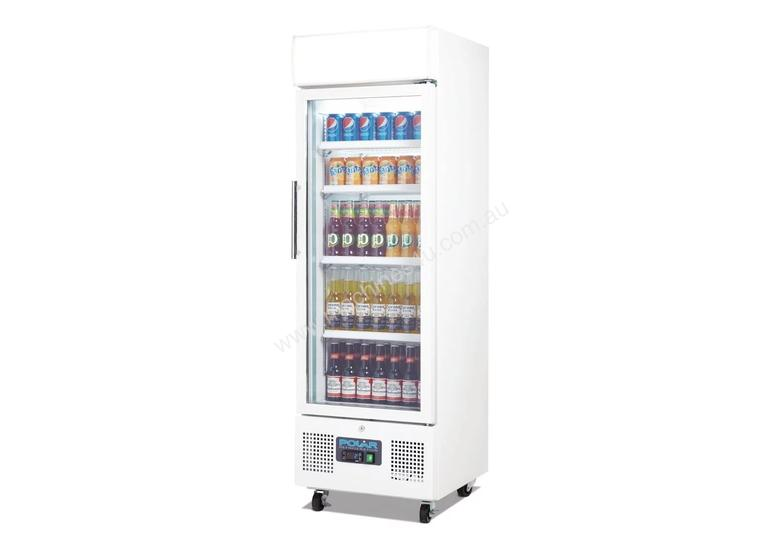 Polar DM075-A - Upright Display Chiller 218Ltr Single Door Fridge