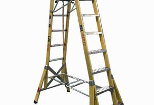 Branach Platform Ladder FPL 2.1 Meter Fiberglass Industrial Stock Picking