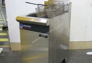 Commercial Twin Pan Gas Deep Fryer