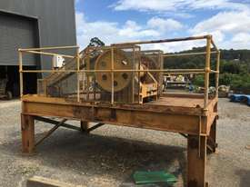 Jaw Crusher 150 mm x 750 mm on stand with motor - picture0' - Click to enlarge