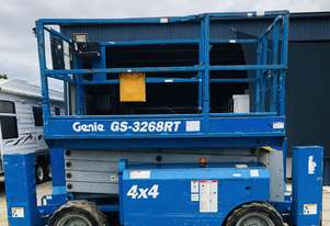 Genie GS3268RT  Rough Terrain Scissor lift in time till 2021