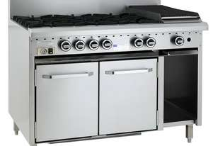 6 Burner 300mm Chargrill & Oven