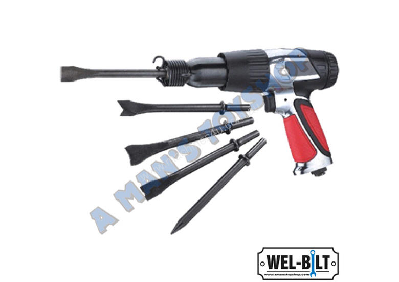 AIR HAMMER KIT 190MM TRAVEL  5 CHISELS