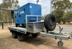 8.6 KVA 3 Cyl Diesel GENSET Trailer Mounted Generator with only 1704 Hrs Includes Distribution Box