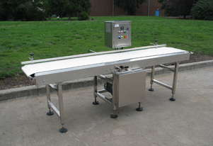 Stainless Steel Motorised Belt Conveyor Variable Speed - 2.6m long