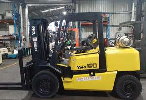Forklift For Sale 5 Ton Yale LPG 4300mm Container Entry Mast Side Shift