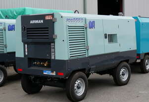 AIRMAN PDS655SD-4B2: 655cfm Portable Diesel Compressor on Wagon Wheels