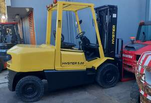 Hyster 5 Ton Container Entry Diesel Forklift 2008 Model 3m Lift Height Side shift