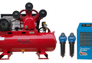 BOSS 43CFM Compressor with Dryer & Filter Package