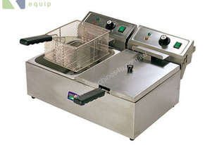 TWIN COMMERCIAL DEEP FRYER - ELECTRIC 2 X 10L - EF