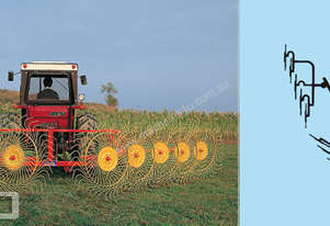 Sitrex RP10 Mounted Side Delivery Rake