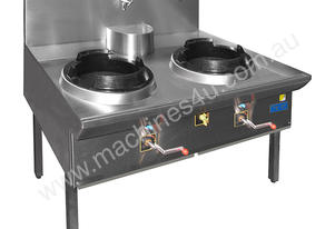 F.E.D. 3WOK12/14 - TRIPLE WATERLESS GAS WOK