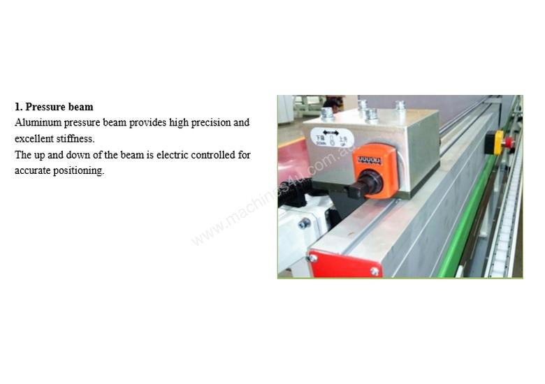 NANXING  Pre milling Touch Screen Edgebander NB6J with  Corner Round Machine option Return Conveyor