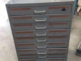 10 Draw Metal Storage Cabinet Took Draw #G