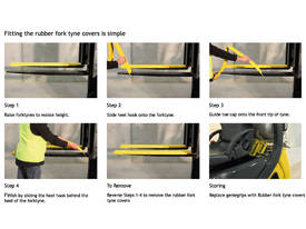 Rubber Forklift Tyne Grip Covers 100 x 1370mm - picture1' - Click to enlarge
