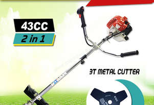 Toolrock 43cc Petrol Engine Brush Cutter Whipper Snipper Weed Whip Line Trimmer