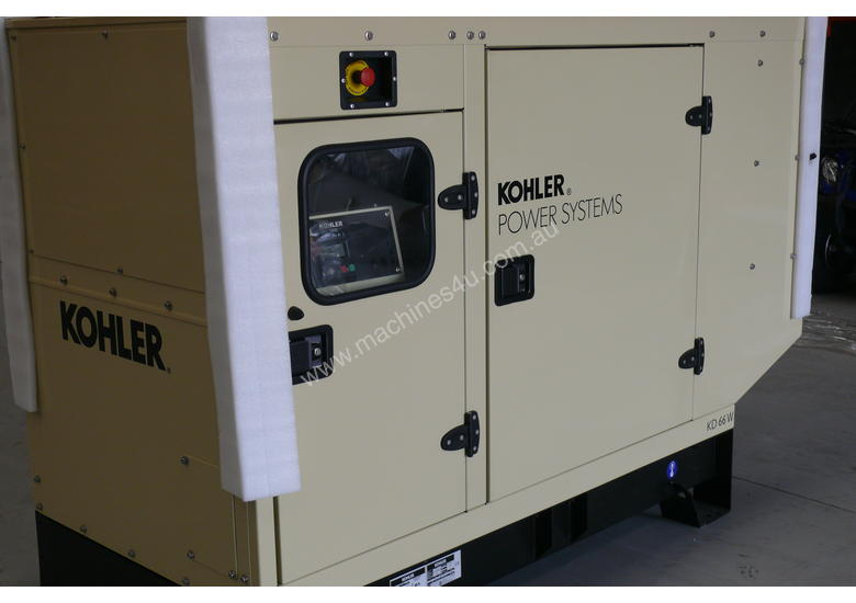 KOHLER KD130 130kVA DIESEL GENERATOR ENCLOSED CABINET |JOHN DEERE POWERED|