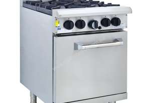 Luus RS-2B3P 600mm Oven with 2 Burners & 300mm Grill Professional Series