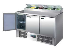Polar 3 Door Salad and Pizza Prep Counter Stainless Steel / Refrigeration  - picture0' - Click to enlarge