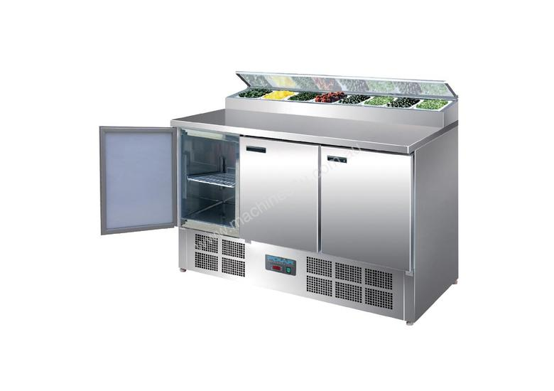 Polar 3 Door Salad and Pizza Prep Counter Stainless Steel / Refrigeration