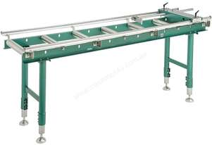 Calibrated Deluxe Length Stop Roller Conveyor Kit, 360mm x 2000mm Linear Measuring System