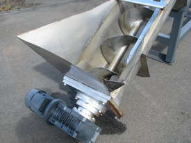 Large Industrial Incline Auger Feeder Screw Conveyor - 4.7m long - picture1' - Click to enlarge