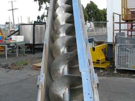 Large Industrial Incline Auger Feeder Screw Conveyor - 4.7m long - picture4' - Click to enlarge
