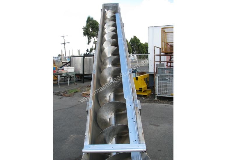 Large Industrial Incline Auger Feeder Screw Conveyor - 4.7m long