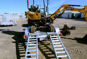 Sany Excavator and Gal Trailer