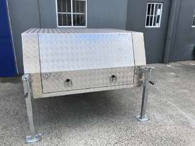 Aluminium Dual Cab Canopy Toolbox Jack Off Canopy Ute Toolbox 1780x1800x850mm - picture0' - Click to enlarge